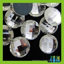 Piedra de cristal posterior plana redonda al por mayor de 25m m para la joya