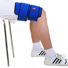 easy to use portable thigh cold wrap straps ties to leg pack