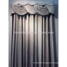 Latest design elegant drapes curtains with fancy valance