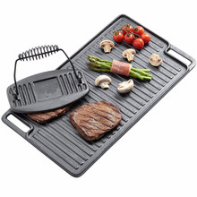 Essential Home Vegetable Oil Cast Iron Grills / Griddes