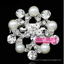 Bouquet de mariée boule de broche perle argentée