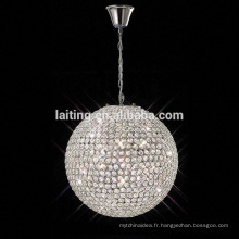 Beautiful crystal ball lighting easy setting fixture