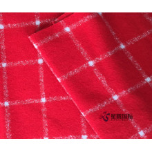 Plaid Anti-static Woolen Fabric For Winter Garment