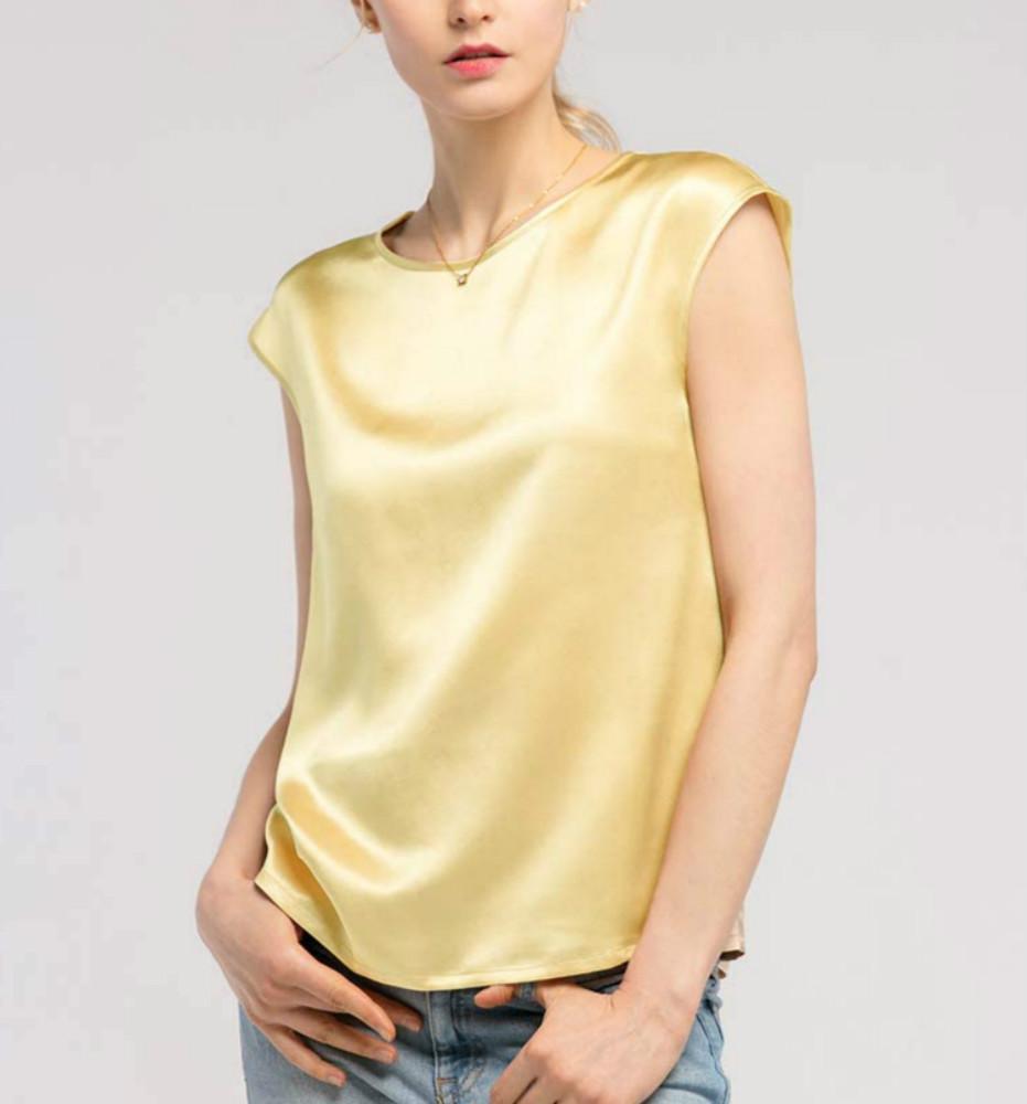 Gold Silk Tops
