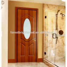 Badezimmer Melamin Moulded Tür mit Milchglaseinsatz