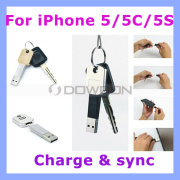USB Key Chain Charger Sync Data Cable for iPhone 5 /5s/5c/iPad Air Samsung Galaxy S4 I9500