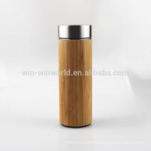 Werbeartikel Muttertag Geschenk Doppelwand Vakuum isoliert Bambus Kaffeetasse