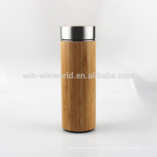 Promotional Mother's Day Gift Double Wall Vacuum Insulated Bamboo Coffee Cup
