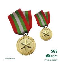 Médaille d'emblème d'honneur de solider en relief pour souvenir