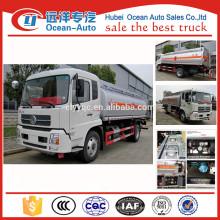 China fábrica DONGFENG capacidad camión cisterna de combustible para la venta caliente