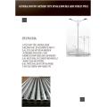 Poteau d'éclairage à double bras galvanisé de 10 m