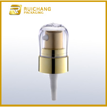 Plastic cosmetic lotion pump for bottle