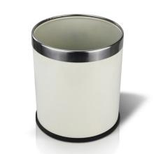 Cubo de basura de hierro redondo abierto superior (YW0094)