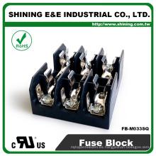FB-M033SQ Aprobado UL Igual a Bussmann 3 Pole 30A caja de fusibles de cerámica