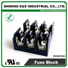 FB-M033SQ UL Aprovado Igual a Bussmann 3 Pole 30A caixa de fusíveis de cerâmica