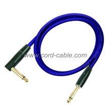 DFS Series Professional Instrument Guitar Cable Jack 90° to Jack Blue