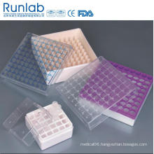 1ml to 2ml Cryovial Tube Storage Boxes with 100 Wells