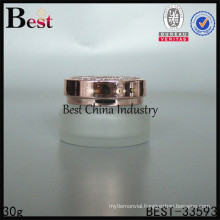 30g empty frosted jar for cosmetic, silk printing service, OEM