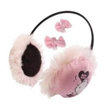 Winter warm Over-ear plush headphone as Christmas gift