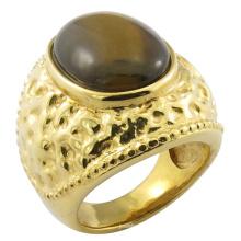 Dubai Stil Big Stone Messing Ring