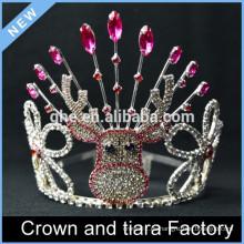 Corona de la tiara del feliz cumpleaños, coronas de la tiara del feliz año nuevo, decoraciones de la corona del rey