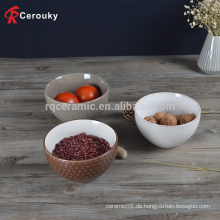 Fabrik Großhandel Keramik Steinzeug Reis Schüssel