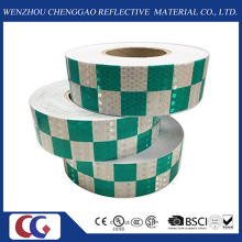 High Intensity Grid Design Printed PVC Fluorescent Reflective Tape Made with Crystal Lattic Film