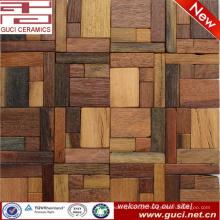 Telha de assoalho de 300x300mm misturou a cor de madeira do mosaico do projeto de madeira