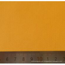 Tejido de sarga de algodón poliéster amarillo T/C