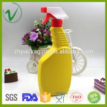 Pistolet à vide plat bouteilles en plastique pour liquides 500 ml d'emballage pour shampoing à chaud