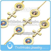 Bracelet chapelet juif or Croix religieuse vierge Marie chaîne chrétienne Bracelet usine dongguan à la main
