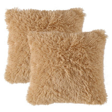 Luxury Faux Fur Throw Pillow Cover Deluxe Decorative Plush Pillow Case Cushion Cover Shell for Sofa Bedroom Car