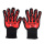 Suhu Tinggi bekerja Red Flame Custom Gloves