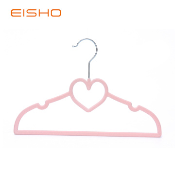 EISHO Kids Heart Velvet Flocked Hanger
