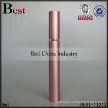 Shanghai Meilleur 6 ml parfum vaporisateur rose stylo parfum vaporisateur bouteille pompe vaporisateur pour parfum avec capuchon en aluminium