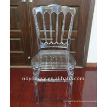 Chaise en résine de résine de cristal