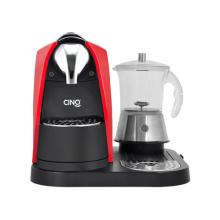 Machine à café capsule avec mousseur à lait verre Transparent