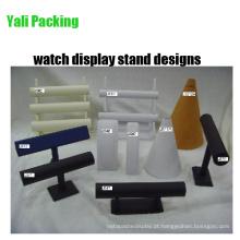 Couro PU Tiers Assista Display Stand Designs (série JS)