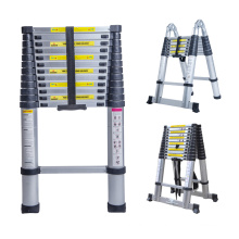 3 sections Aluminium Step Foldable Extension Ladders with EN131