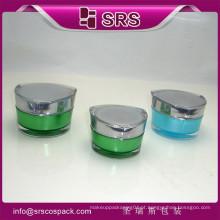 China Novos produtos Atacado Jar e plástico Container Fabricantes e 30g 50g vazio acrílico Unique Cosméticos Linha Embalagem