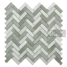Green Glass Mosaic Tile Sheets for Backsplash