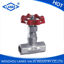 200lb Stainless Steel Globe Valve with NPT / Bsp Thread