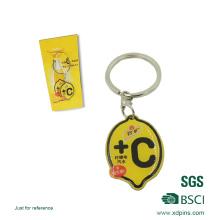 Llavero metálico personalizado con el logotipo de la empresa (xd-0902)