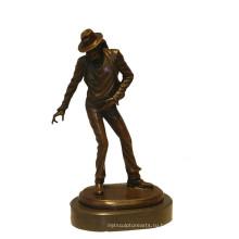 Музыка-Деко Латунь Статуя Классический Майкл Резьба Бронзовая Скульптура Т-900