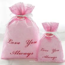 Bolsas de regalo de San Valentín en relieve rosa para mujer