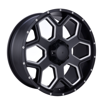 Pick-up Wheel Flat Black gefräste Fenster