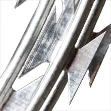 hot dip galvanized concertina blade razor barbed wire
