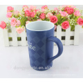 La taza de cerámica esmaltada del café LOGOTIPO de encargo al por mayor del nuevo diseño 2015