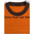 Herren Rundhals Farbe kombiniert 100% Bestnote Pure Cashmere Sweater