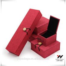 2016 noël impression personnalisée boîte à bijoux emballage de mariage anneaux d'or